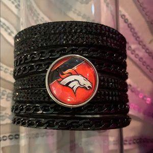 Jewelry - Denver Broncos Ginger Snap rhinestone cuff